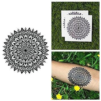 Tattify Blume Mandala Temporsre Tattoos Herbst Set Mit 2 Amazon