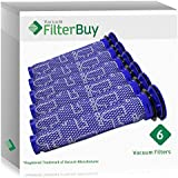 6 - Dyson DC59 (DC-59) Pre Filters, Part # 965661-01. Designed by FilterBuy to fit Dyson DC59 Motorhead & V6 Motorhead Cord-Free Vacuum Cleaners.