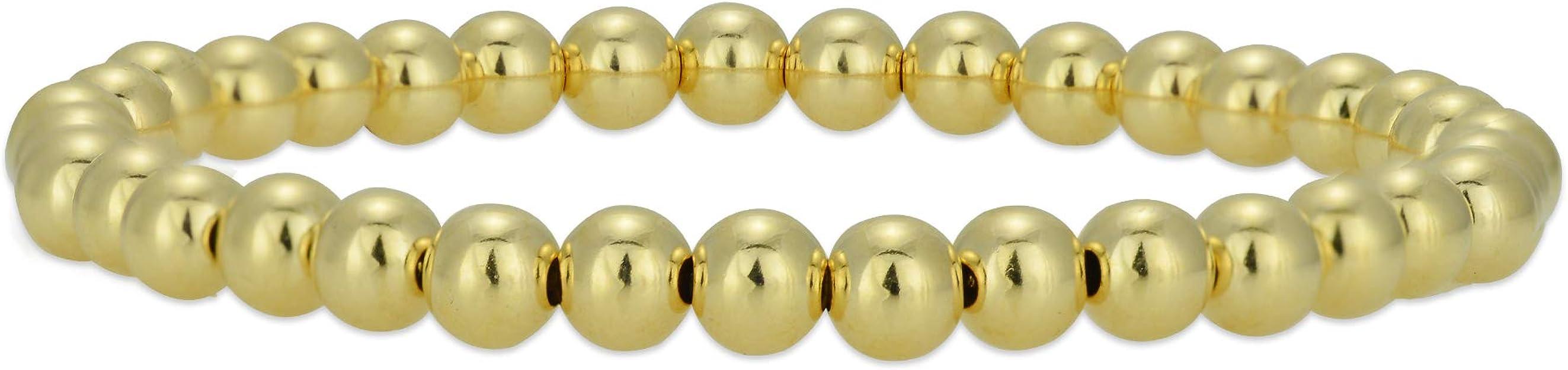 Beach Boho Bangles 14K Yellow Gold Filled Gold Filled Bracelet 12 Gauge Bangles Set of 6 14K Rose Gold Filled