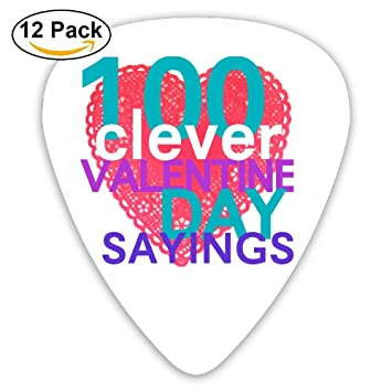 Amazon Com Hehe Tan Guitar Pick Abs 100 Clever Valentine Day