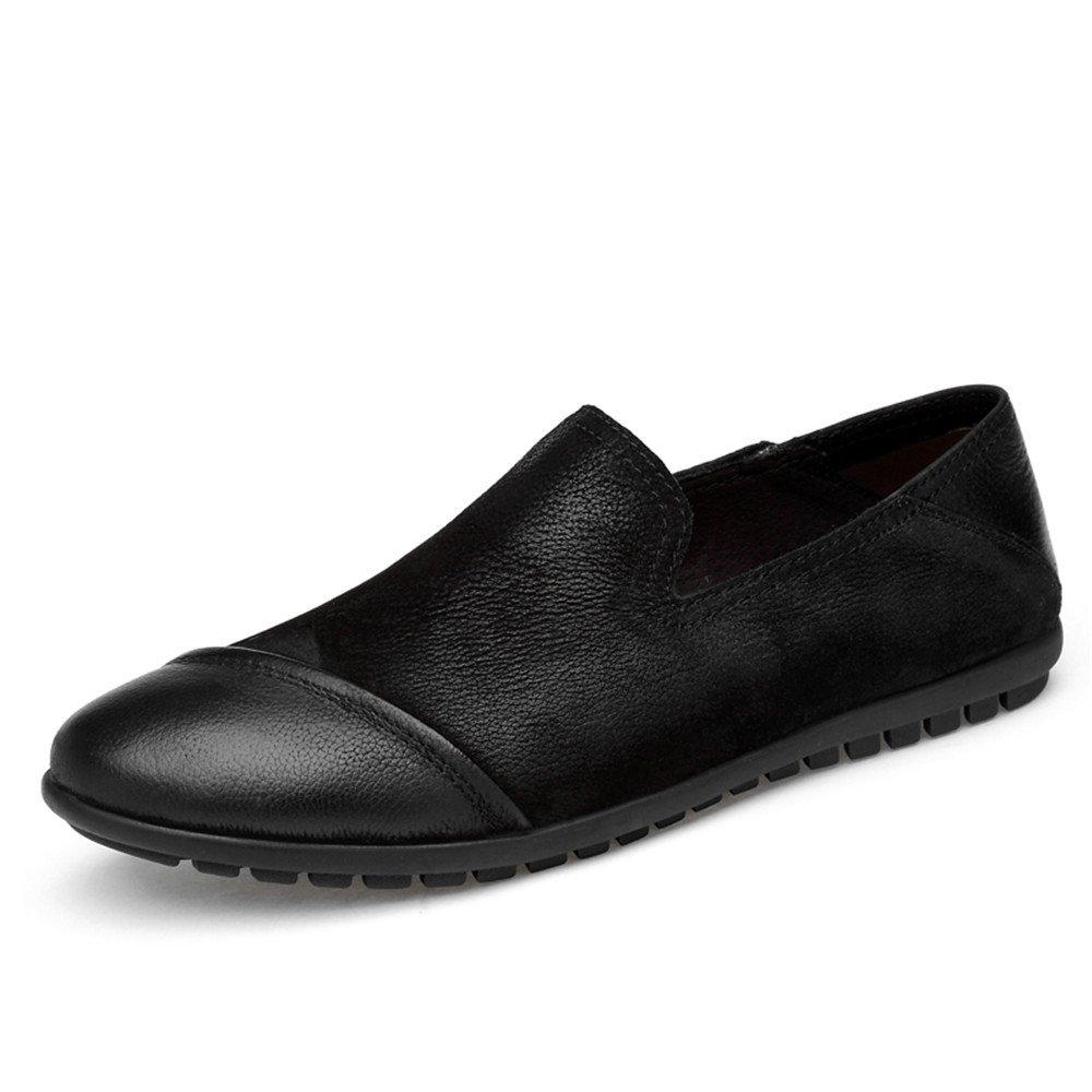 Noir Shuo lan hu wai Chaussures en Cuir véritable pour Hommes,Chaussures de Cricket (Couleur   Noir, Taille   41 EU) 38 EU