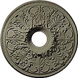 Ekena Millwork CM23ASSSF Ashley Ceiling Medallion, 23-7/8'' x 4'' x 2-1/8'', Spartan Stone