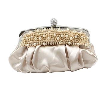46ad49365aa50 NBAG Frauen Klassische Perlen Handtasche Abendkleid Bankett Tasche Braut  Brautjungfer Ehe Kleid Tasche Prinzessin Damen Tasche