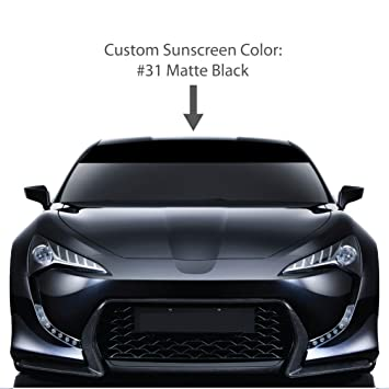 8 x 72 windshield sun visor screen matte black vinyl stripes