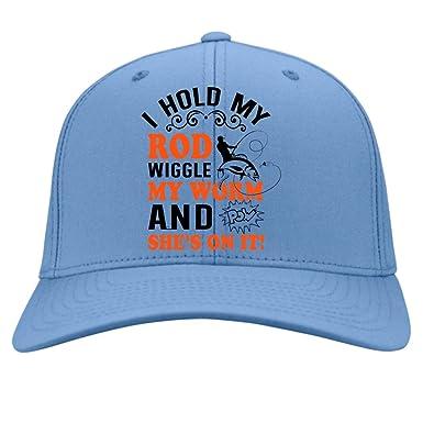i hold my rod cap knit cap wiggle my worm hat twill cap light
