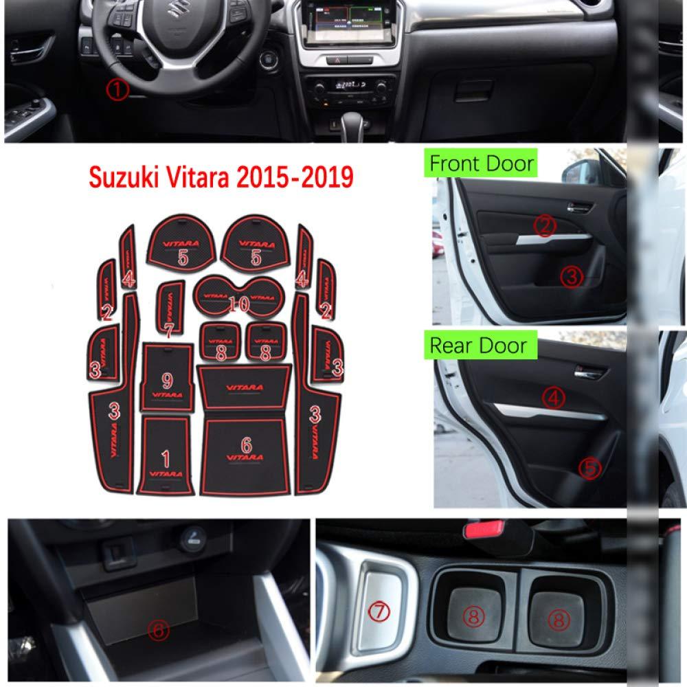 TAYDMEO Goma Antideslizante con Ranura para Puerta para Suzuki Vitara 2015 2016 2017 2018 2019