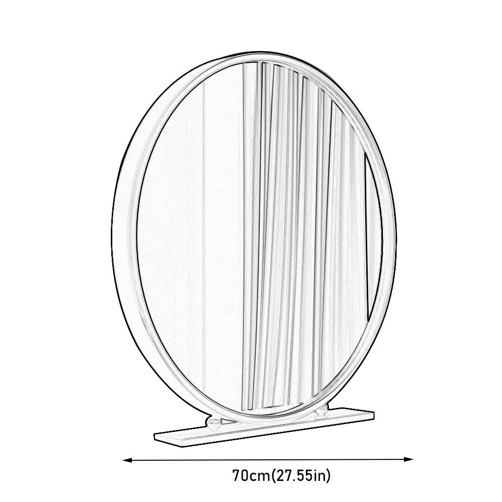 Dgeg Runden HD Kosmetikspiegel Tischspiegel Zum Schlafzimmer Desktop Schminktisch Eisen Farbe : Gold, gr/ö/ße : 40 cm