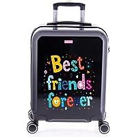 imome Cool Maleta de Cabina Juvenil Best Friends Forever 55x40x20 cm   Equipaje de Mano, Trolley de Viaje Ryanair…