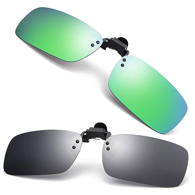 cbf7beb46 Men's Polarized Clip-on Sunglasses Anti-Glare UV400 Driving Glasses with  Flip Up for