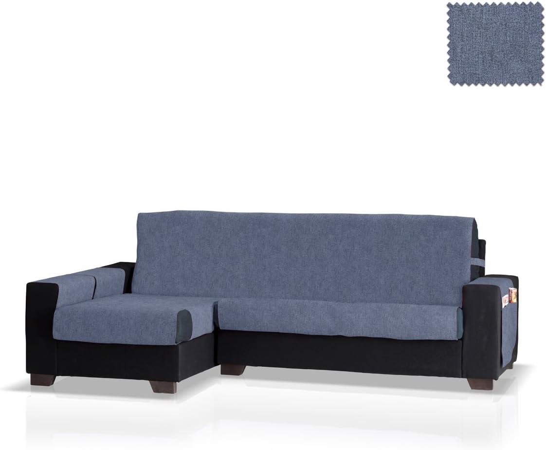 JM Textil Funda de sofá Chaise Longue Pharma Brazo Izquierdo, Tamaño Grande (275 Cm.), Color Azul