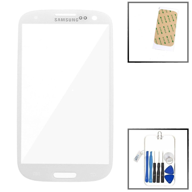 Jzk Samsung Galaxy S3 Siii I9300 Front Glas Faceplate Lcd Touchscreen Mini White Original Elektronik
