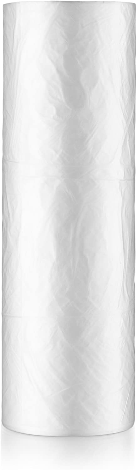 Basix [340 Count] Clear Disposable Plastic Produce Bags On A Roll 12