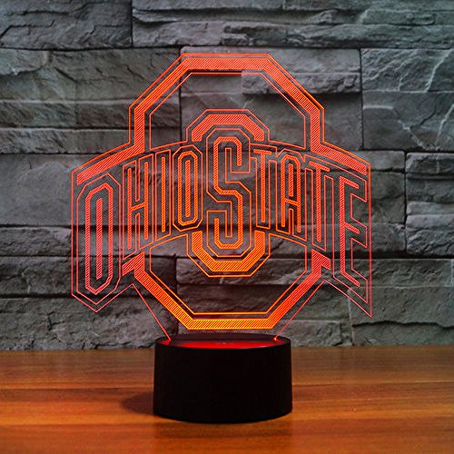 Lucky2Buy NCAA Ohio State University Team Logo Optical Decor Toy Lamp by Lucky2Buy