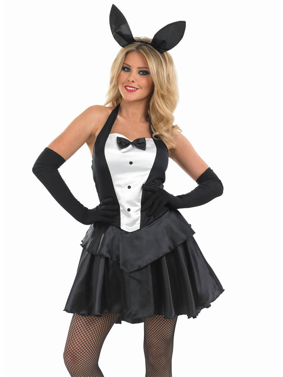 White apron fancy dress - Bunny Girl Hostess Adult Fancy Dress Costume Large 16 18
