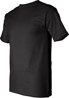 product image for Bayside USA-Made 50/50 Short Sleeve T-Shirt. 1701 - Small - Black
