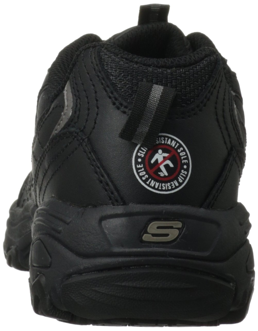 Skechers for Work Women's D'Lites Slip Resistant Sneaker B0068Y2DIE 9 XW US|Black