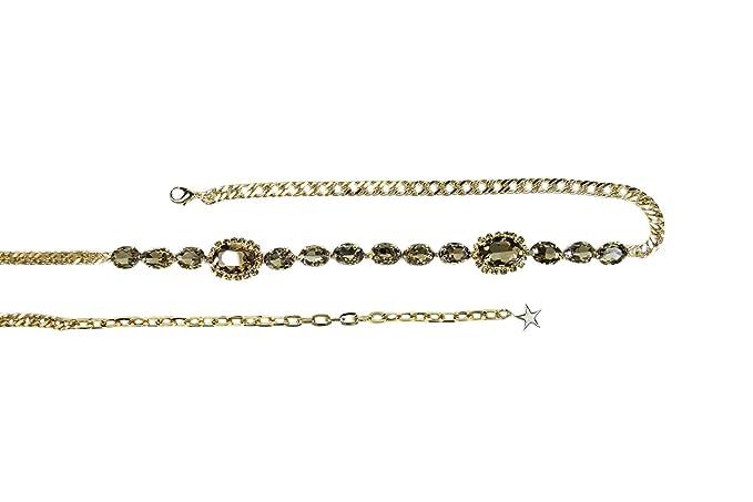 nuovo aspetto lotta in vendita all'ingrosso Argento Antico Cintura laccio gioiello (colorado): Amazon.it ...