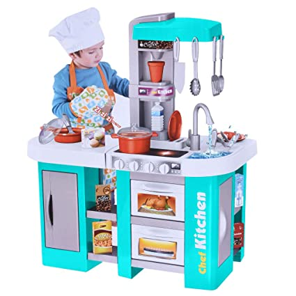 Amazon.com: Kids Kitchen Playset Cooking Accessories Toys ...