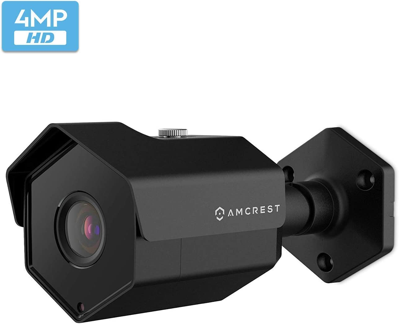 Amcrest UltraHD 4MP Outdoor POE Camera 2688 x 1520p Bullet IP Security Camera, Outdoor IP67 Waterproof, 118° Viewing Angle, 98ft Night Vision, 4-Megapixel, IP4M-1026EB (Black)