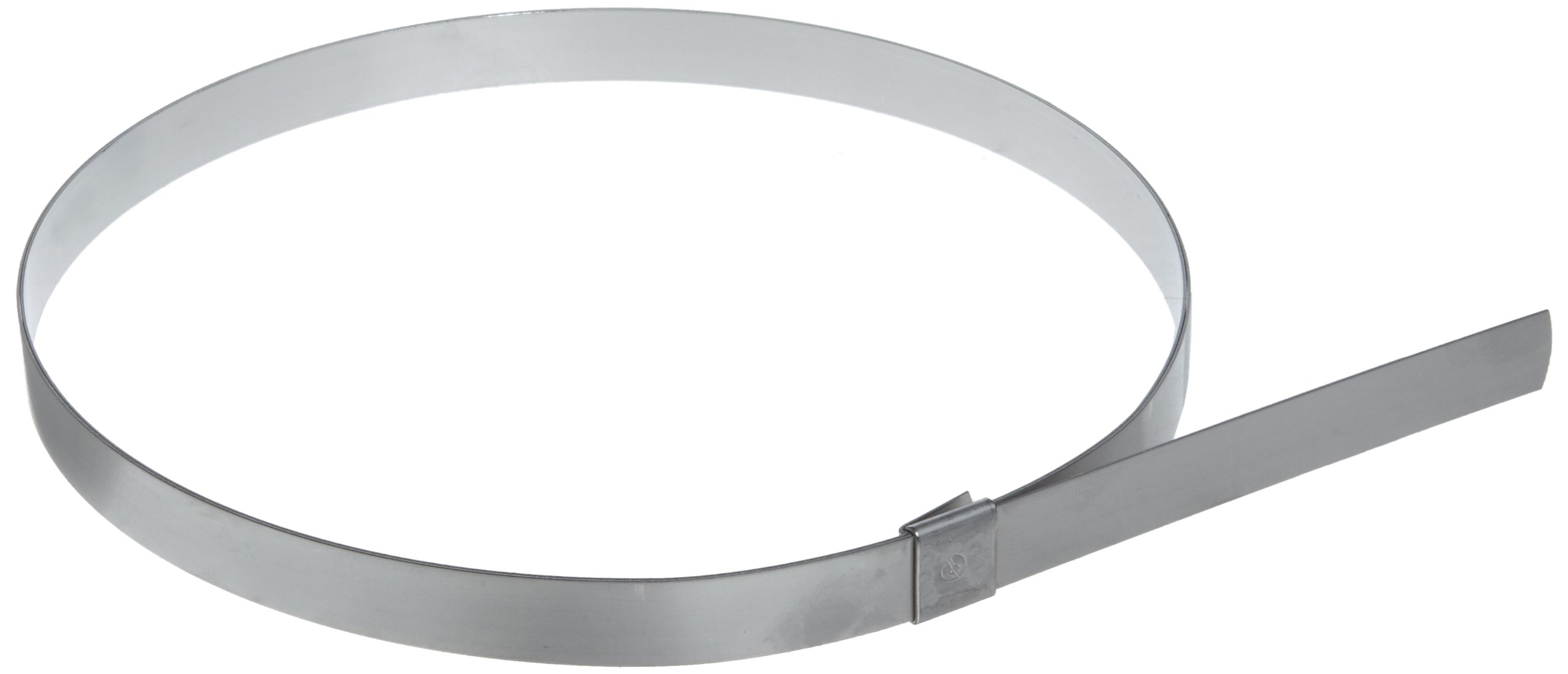 BAND-IT CP18S9 5/8'' Wide x 0.025'' Thick 4-1/2'' Diameter, 201 Stainless Steel Center Punch Clamp (25 Per Box)