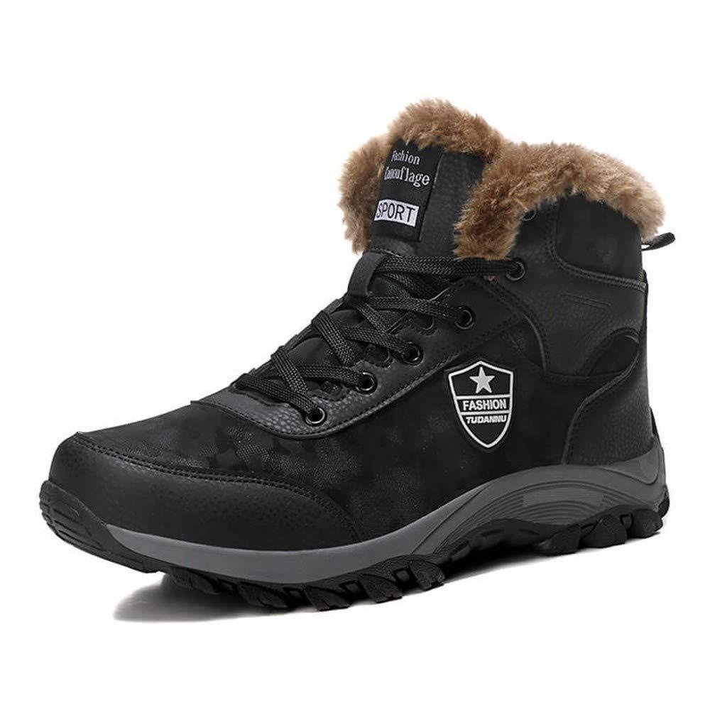 Herren lässige Winter Outdoor Rutschfeste Schneeschuhe Wanderstiefel warme Stiefel und Stiefeletten