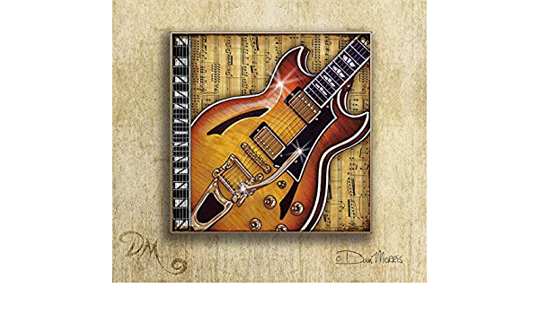 Musician Option to mount print Guitarist Dan Morris Art Print Band Decor Rock /& Roll Guitars #2 Art Prints Set of 3 Choose print size