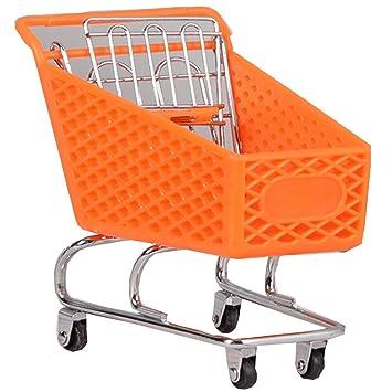 Black Temptation Mini supermercado Handcart Mini Carrito de Compras de Juguete, Almacenamiento de Escritorio, Naranja # 8: Amazon.es: Juguetes y juegos