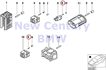 8 X BMW Genuine Terminal Socket Mqs Ela 0.2-0.5 MM Sn 840Ci 840i 850Ci 525i 530i 540i 318i 318is 318ti 320i 323i 325i 325is 328i M3 M3 3.2 740i 740iL 740iLP 750iL 750iLP 525i 528i 530i 540i 540iP M5 3