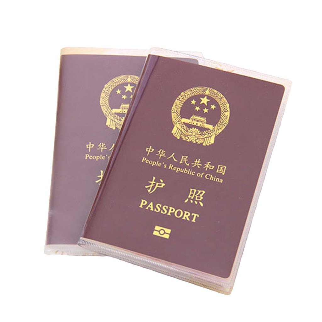VANKER 5Pcs Convenient Frosted Passport Holder Cover Case Cards Paper Document Storage