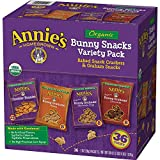 Annie's Organic Variety Pack, Cheddar Bunnies and Bunny Graham Crackers Snack Packs, 36 Pouches, 1 oz Each