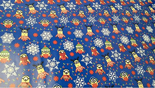 [Christmas Wrapping Despicable Me Minions Holiday Paper Gift Greetings 2 Roll Design Festive Wrap Blue] (Despicable Me Costume Walmart)
