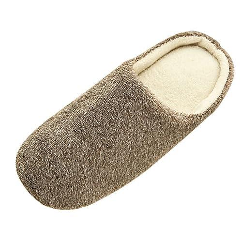 SAGUARO® Erwachsene Plüsch Hausschuhe Winter Wärme Indoor Pantoffeln Home Rutschfeste Weiche Leicht ...