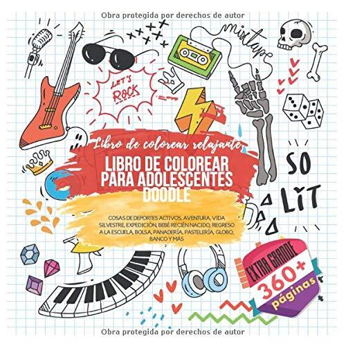 Libro : Libro de colorear para adolescentes Doodle. Extra...
