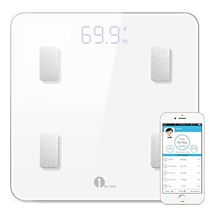 1byone grasa corporal Monitor y báscula digital con función de análisis corporal báscula de baño electrónica