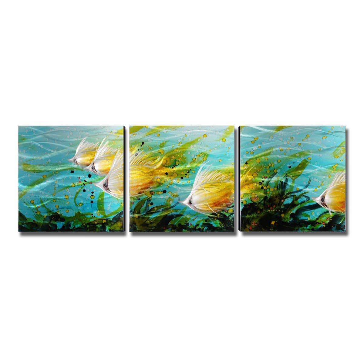 Tooarts Aluminum Tropical Fish Metal Wall Art Modern