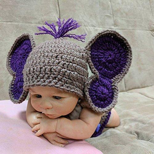 Amazoncom Crochet Newborn Elephant Outfit Newborn Photo Props