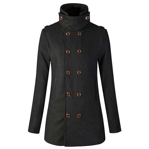 cfe37d8cc160e Reaso Femmes Hiver Manteaux Mi-Longue Cardigan à Manches Longues Jacket  Chaud Veste Trenchcoat Pardessus