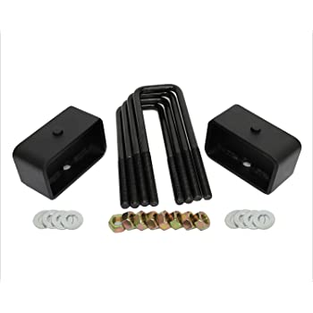 Extra Long 12.5 Square Leaf Spring Axle U Bolts American Automotive 3 Rear Suspension Lift Solid Cast Iron Blocks