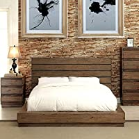 247SHOPATHOME Idf-7623Q Platform-Beds, Queen, Walnut
