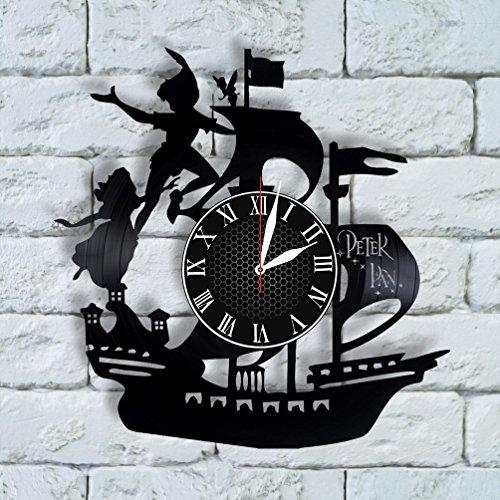 Krykavskyi Art Design Peter Pan Art clock peter pan nursery decor peter pan wedding gift peter pan nursery bedding neverland captain hook costume (Peter Pan And Friends Costumes)