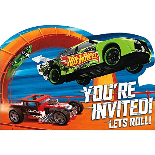Hot Wheels Wild Racer Postcard Invitations, Party Favor -