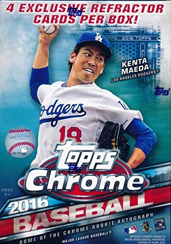 (2016 Topps Chrome MLB Baseball EXCLUSIVE Factory Sealed Retail Box with SPECIAL SEPIA REFRACTOR Pack! Look for RC's, Refractors & Autographs of Carlos Correa, Trevor Story, Corey Seager & Many More!)