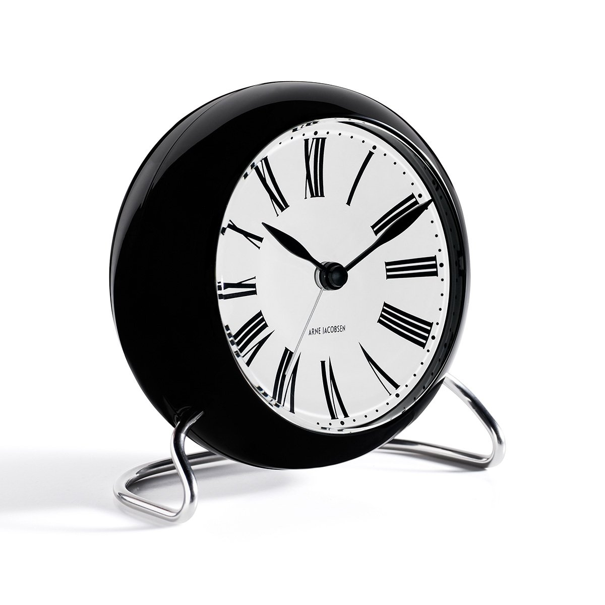 Arne Jacobsen Table Clock Roman with Alarm by Arne Jacobsen