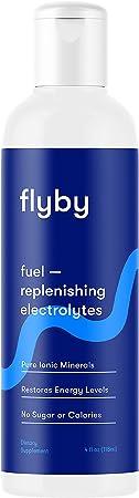 Flyby Electrolyte Liquid Supplement Drops for Water & Drinks - No Calories No Sugar - Rapid Hydration, Keto, Leg Cramps, Energy - 40 Servings - Magnesium, Potassium, Sodium, Zinc & Salt