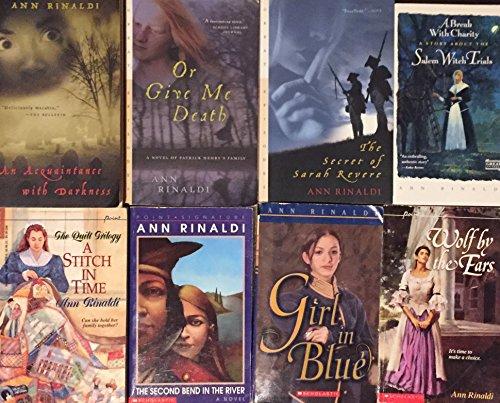 Ann Rinaldi Historical Fiction Novel Collection 8 Book Set (Girl In Blue By Ann Rinaldi)