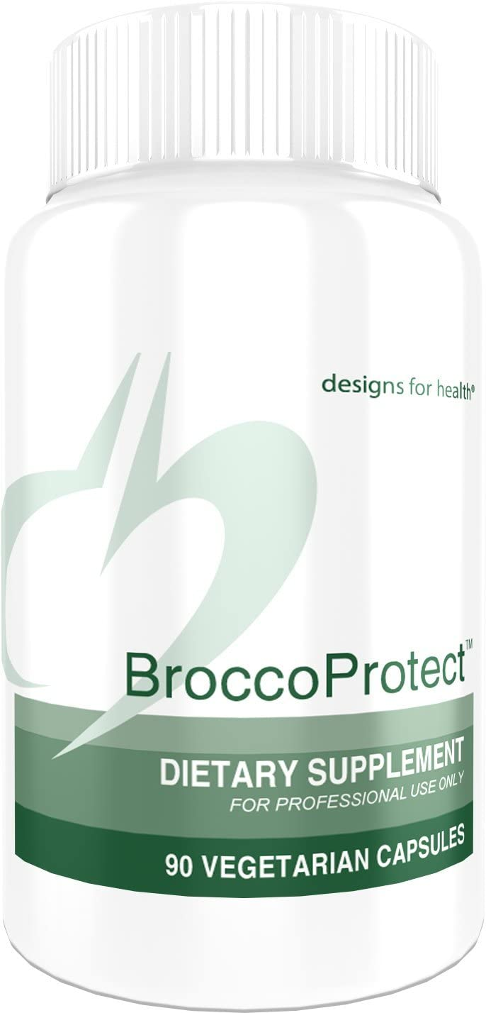 Designs for Health Broccoli Sprout Capsules – BroccoProtect, Natural Broccoli Extract 90 Capsules
