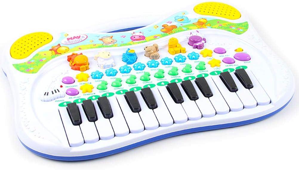 Knowooh Teclado Infantil multifunci/ón Piano Digital 24 Teclas Instrumento de Teclado Timbre Ajustable y m/úsica r/ítmica Juguetes educativos Regalo para ni/ños