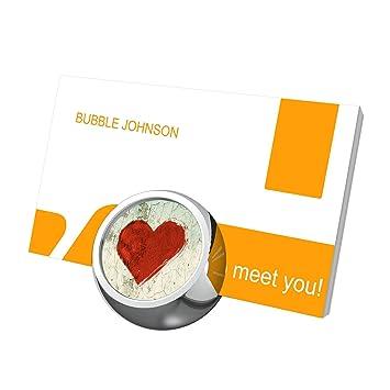 Coeur Amour Carte De Visite Supports Pour Bureau Support