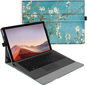 Fintie Case for New Microsoft Surface Pro 7 / Pro 6 / Pro 5 / Pro 4 / Pro 3 12.3 Inch Tablet - Multiple Angle Viewing Portfolio Business Cover, Compatible with Type Cover Keyboard (Blossom)