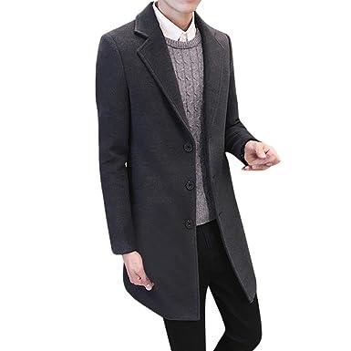 RETUROM Ropa de Abrigo para Hombre, Hombres más el tamaño Formal de Pecho único Figura